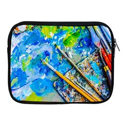 Artist Palette And Brushes Apple Ipad 2/3/4 Zipper Cases by FunnyCow