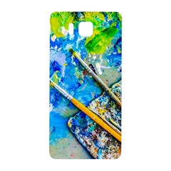 Artist Palette And Brushes Samsung Galaxy Alpha Hardshell Back Case by FunnyCow