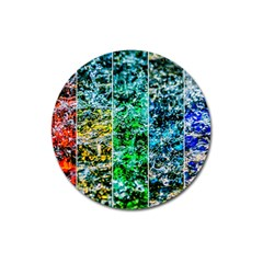 Abstract Of Colorful Water Magnet 3  (round) by FunnyCow