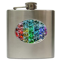 Abstract Of Colorful Water Hip Flask (6 Oz) by FunnyCow