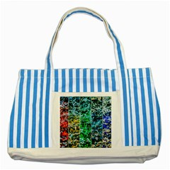 Abstract Of Colorful Water Striped Blue Tote Bag by FunnyCow