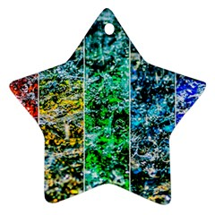 Abstract Of Colorful Water Star Ornament (two Sides) by FunnyCow