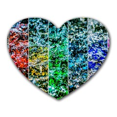 Abstract Of Colorful Water Heart Mousepads by FunnyCow