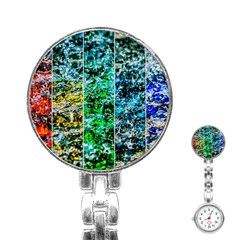 Abstract Of Colorful Water Stainless Steel Nurses Watch by FunnyCow