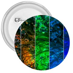 Rainbow Of Water 3  Buttons by FunnyCow