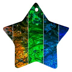 Rainbow Of Water Ornament (star) by FunnyCow