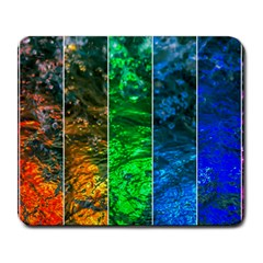 Rainbow Of Water Large Mousepads by FunnyCow