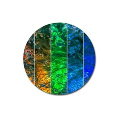Rainbow Of Water Magnet 3  (round) by FunnyCow