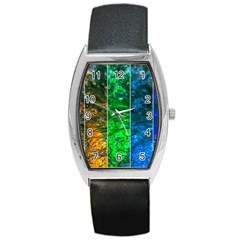 Rainbow Of Water Barrel Style Metal Watch by FunnyCow