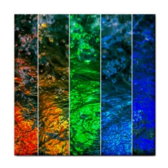 Rainbow Of Water Face Towel by FunnyCow