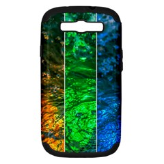 Rainbow Of Water Samsung Galaxy S Iii Hardshell Case (pc+silicone) by FunnyCow