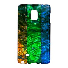 Rainbow Of Water Samsung Galaxy Note Edge Hardshell Case by FunnyCow