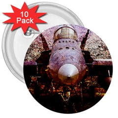The Art Of Military Aircraft 3  Buttons (10 Pack)  by FunnyCow