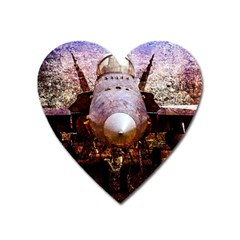 The Art Of Military Aircraft Heart Magnet by FunnyCow