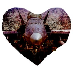 The Art Of Military Aircraft Large 19  Premium Heart Shape Cushions by FunnyCow
