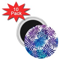 Blue Tropical Leaves Pattern 1 75  Magnets (10 Pack)  by goljakoff