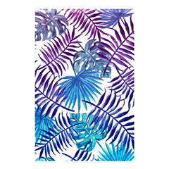 Blue Tropical Leaves Pattern Shower Curtain 48  X 72  (small)  by goljakoff