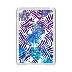 Blue Tropical Leaves Pattern Ipad Mini 2 Enamel Coated Cases by goljakoff