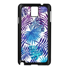 Blue Tropical Leaves Pattern Samsung Galaxy Note 3 N9005 Case (black) by goljakoff