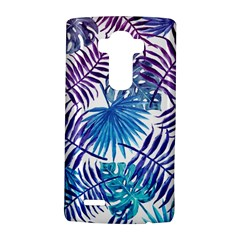 Blue Tropical Leaves Pattern Lg G4 Hardshell Case by goljakoff