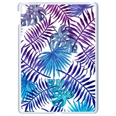 Blue Tropical Leaves Pattern Apple Ipad Pro 9 7   White Seamless Case by goljakoff