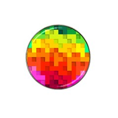 Abstract Background Square Colorful Hat Clip Ball Marker (4 Pack)