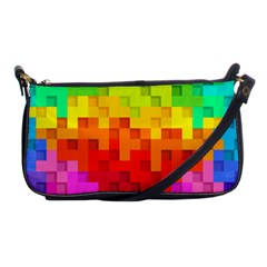 Abstract Background Square Colorful Shoulder Clutch Bags