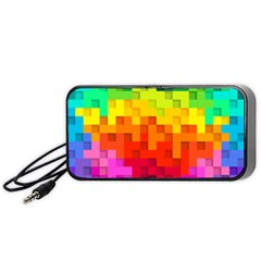 Abstract Background Square Colorful Portable Speaker