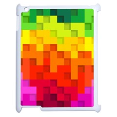 Abstract Background Square Colorful Apple Ipad 2 Case (white) by Nexatart