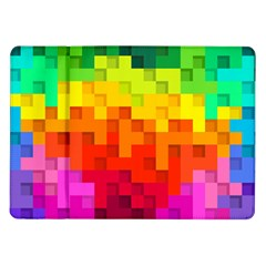Abstract Background Square Colorful Samsung Galaxy Tab 10 1  P7500 Flip Case