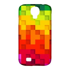 Abstract Background Square Colorful Samsung Galaxy S4 Classic Hardshell Case (pc+silicone)