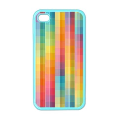 Background Colorful Abstract Apple Iphone 4 Case (color) by Nexatart