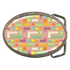 Abstract Background Colorful Belt Buckles