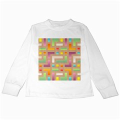 Abstract Background Colorful Kids Long Sleeve T-shirts