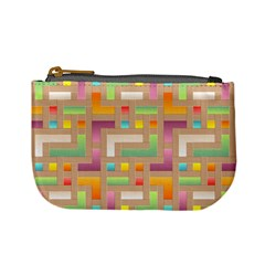Abstract Background Colorful Mini Coin Purses by Nexatart