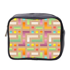 Abstract Background Colorful Mini Toiletries Bag 2 Side by Nexatart