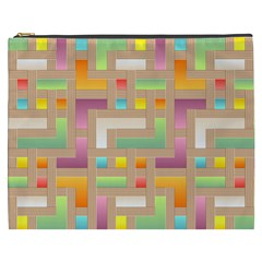 Abstract Background Colorful Cosmetic Bag (xxxl)