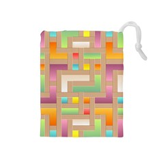 Abstract Background Colorful Drawstring Pouches (medium)  by Nexatart