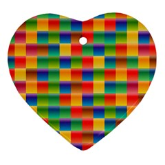 Background Colorful Abstract Heart Ornament (two Sides) by Nexatart