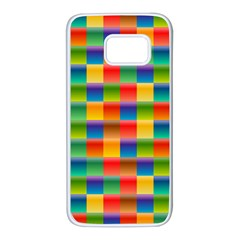 Background Colorful Abstract Samsung Galaxy S7 White Seamless Case