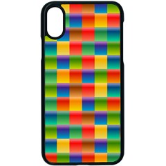 Background Colorful Abstract Apple Iphone X Seamless Case (black) by Nexatart