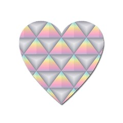 Background Colorful Triangle Heart Magnet
