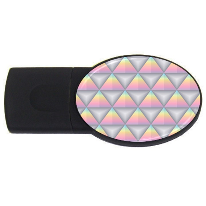 Background Colorful Triangle USB Flash Drive Oval (2 GB)