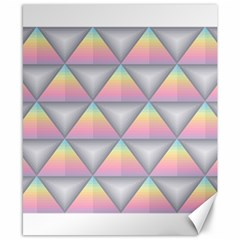 Background Colorful Triangle Canvas 8  X 10
