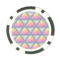 Background Colorful Triangle Poker Chip Card Guard