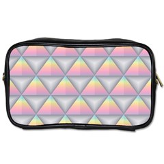 Background Colorful Triangle Toiletries Bags by Nexatart