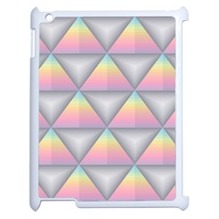 Background Colorful Triangle Apple Ipad 2 Case (white) by Nexatart