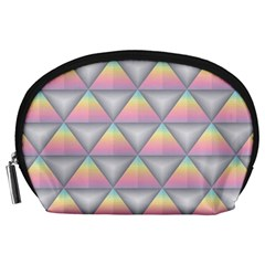 Background Colorful Triangle Accessory Pouches (large)  by Nexatart