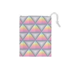 Background Colorful Triangle Drawstring Pouches (small)  by Nexatart