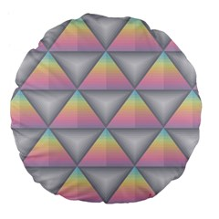 Background Colorful Triangle Large 18  Premium Flano Round Cushions